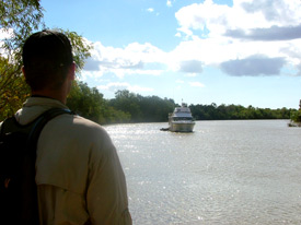 From Princess Charlotte Bay, 60km up the North Kennedy River makes for a great anchorage for our Croc Research